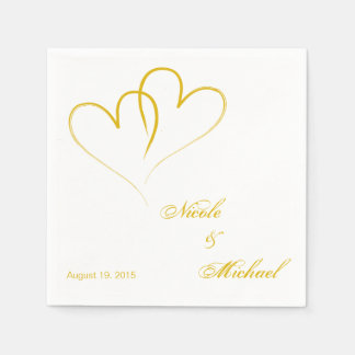 Save The Date - Two hearts intertwined Disposable Napkin