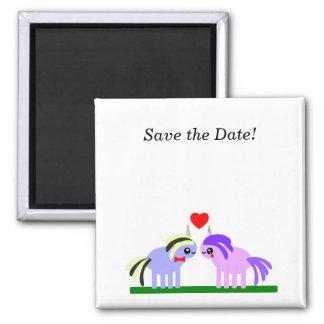 Save the Date! Unicorn wedding Square Magnet