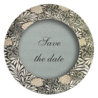 Save the date victorian plate