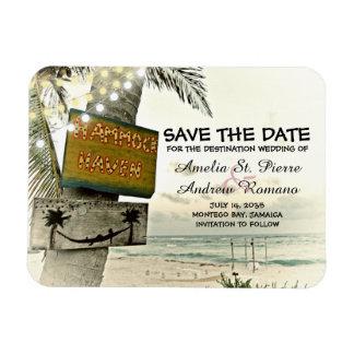 Save the Date Vintage Romantic Beach Destination Magnet
