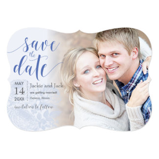 Save the Date Vintage Rose Pastels: Serenity Card