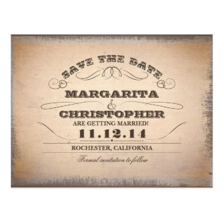 save the date vintage typography old postcards