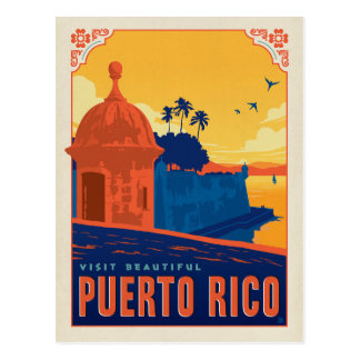 Save the Date | Visit Beautiful Puerto Rico Postcard
