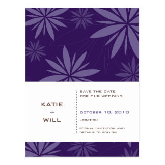 SAVE THE DATE :: vitality purple Postcard