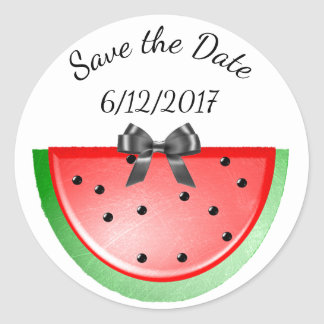 Save the Date, Watermelon Stickers Personalized