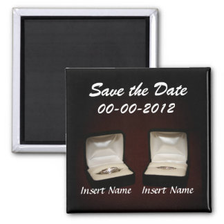 Save the Date Wedding Announcement Fridge Magnet