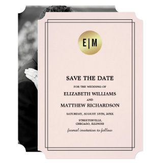 Save the Date. Wedding Custom Photo Announcements