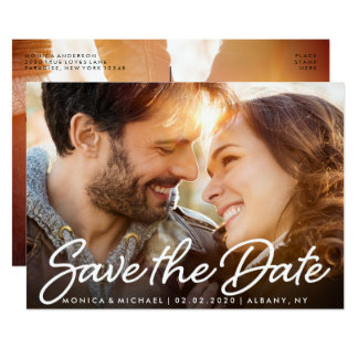 Save the Date Wedding Cute Couple Photo Card