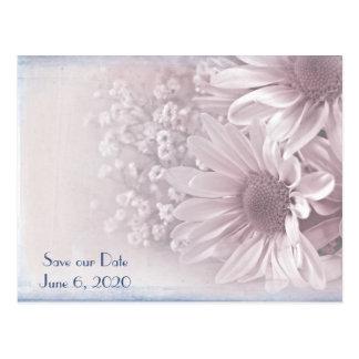 Save the Date wedding daisy bouquet Postcard