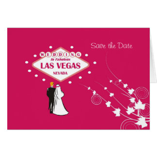 """Save the Date"" Wedding In Fabulous Las Vegas Brid Card"