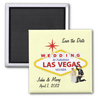 Save the Date Wedding In Las Vegas Magnet