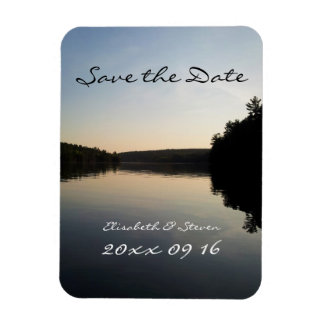 Save the Date Wedding Magnet Lake at Sunset
