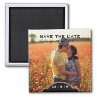 Save the Date Wedding Photo Announcement Magnet