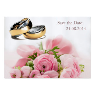 Save the Date, Wedding Rings - Business Card Business Card Template