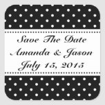Save the date wedding stickers