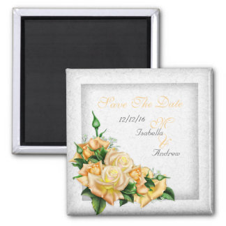Save The Date Wedding White Gold Yellow Green Rose Magnets