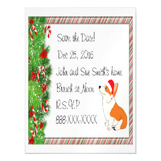 Save the Date Welsh Corgi Magnetic Card