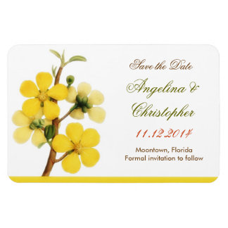 save the date white elegant magnets