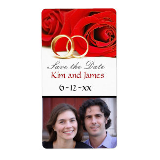 Save the Date Wine Bottles Shipping Label