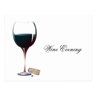 Save the Date Wine Evening Postcard