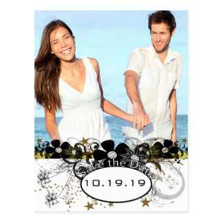 Save the Date with YOUR Photo Yellow Any color Postcard