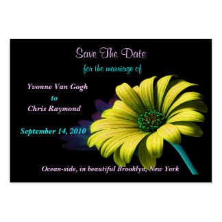 Save The Date Yellow Daisy Pack Of Chubby Business Cards