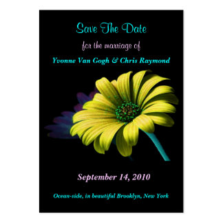 Save The Date Yellow Daisy I Business Card Templates