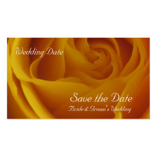 Save the Date Yellow Rose Cards Business Card Templates
