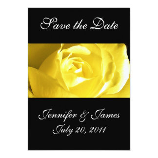 Save the Date Yellow Rose Wedding Announcement