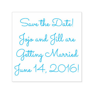 Save the Date Your Name (Wedding) Date Self-inking Stamp