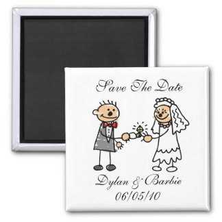 Save The Dates Picture Magnet Engagement Ring
