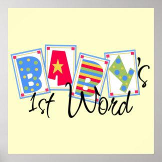 Save the dates /word Baby_ChooChoo Print Frame