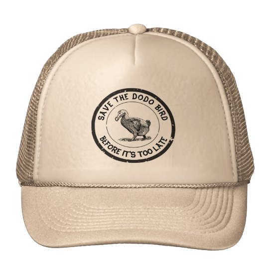 SAVE THE DODO BIRD TRUCKER HAT
