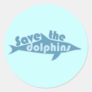 Save the Dolphins Round Sticker