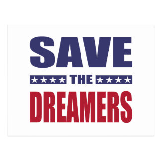 Save the dreamers postcard