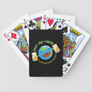 Save The Earth Bicycle Playing Cards