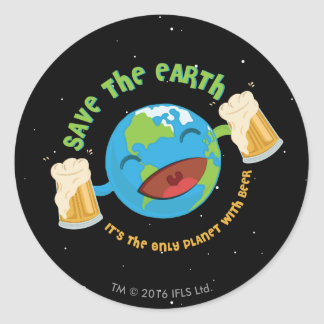 Save The Earth Classic Round Sticker