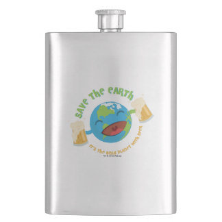 Save The Earth Hip Flask