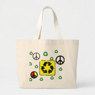 Save the earth Tote Jumbo Tote Bag