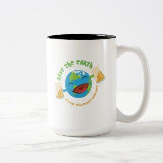 Save The Earth Two-Tone Coffee Mug