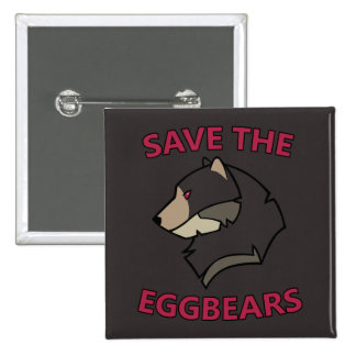 Save the Eggbears 2 Inch Square Button