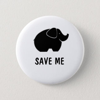Save the elephants 2 inch round button