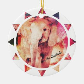 Save the Elephants, Baby Eelephant Sunshine Ceramic Ornament
