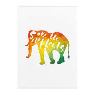 Save the Elephants. Calligraphy, Graphical Art