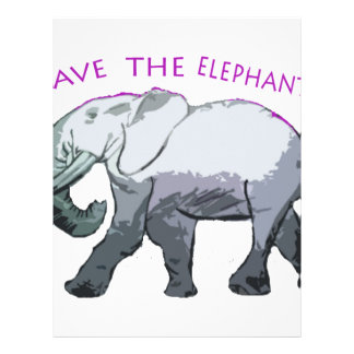 Save the Elephants! Custom Letterhead