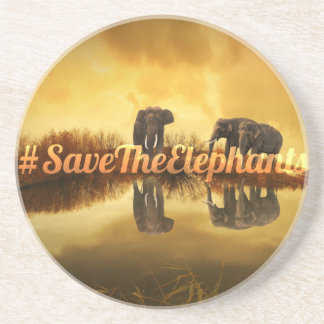 Save The Elephants Design Coaster