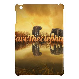 Save The Elephants Design iPad Mini Cover
