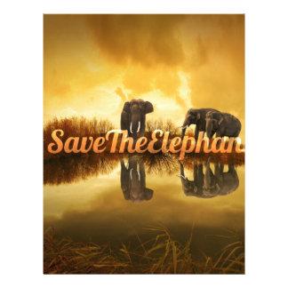 Save The Elephants Design Letterhead