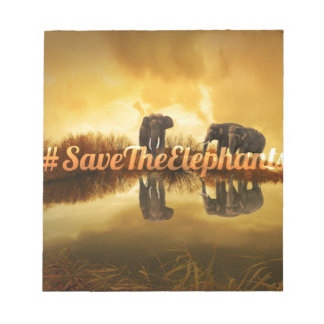 Save The Elephants Design Notepad