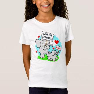 Save the Elephants Girls Shirt